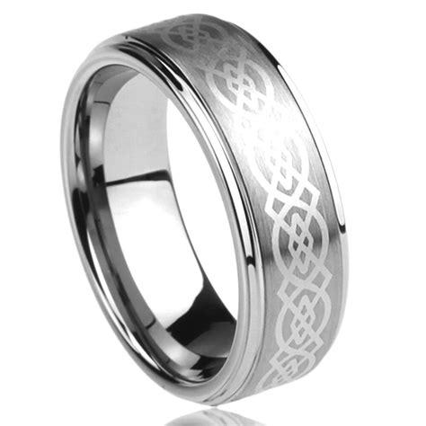 8mm titanium comfort fit wedding band ring laser etched celtic knot ebay