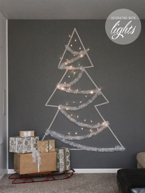 light tree on wall remodelaholic holiday decorating ideas for every room in