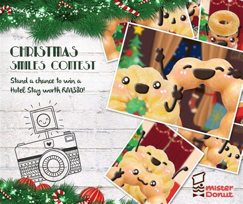 mister donut christmas smiles contest contests events