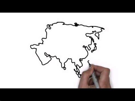 draw map  asia youtube