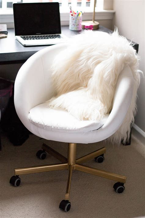 gold office chair diy ikea hack home tenise