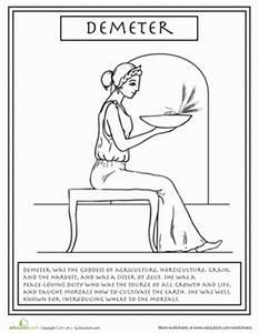 coloring pages of greek gods - greek gods demeter worksheet