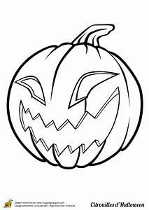Tete De Citrouille Pour Halloween : coloriage de halloween qui fait peur coloriage halloween citrouille qui fait peur ~ Melissatoandfro.com Idées de Décoration