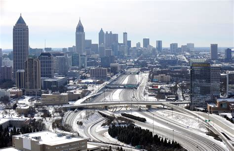 1 Day After Storm, Atlanta Highways Still Gridlocked