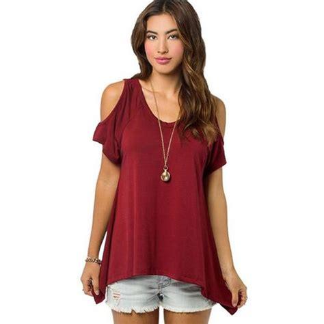 cold shoulder blouses get cheap cold shoulder tops aliexpress com