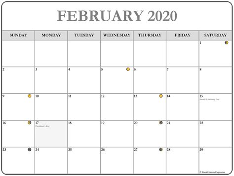 february  calendar  printable monthly calendars