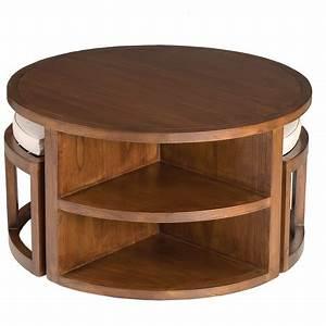 Table Bois Exotique : table basse ronde bois exotique table de lit ~ Farleysfitness.com Idées de Décoration