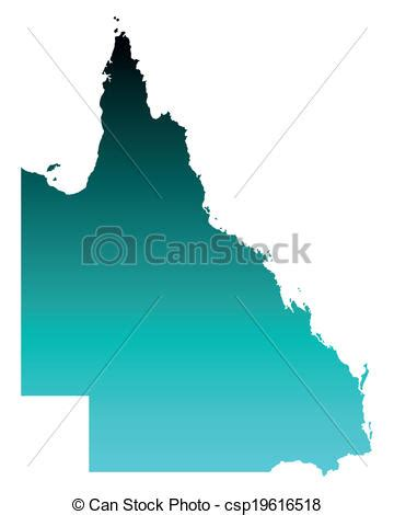 vector clip art  map  queensland csp search
