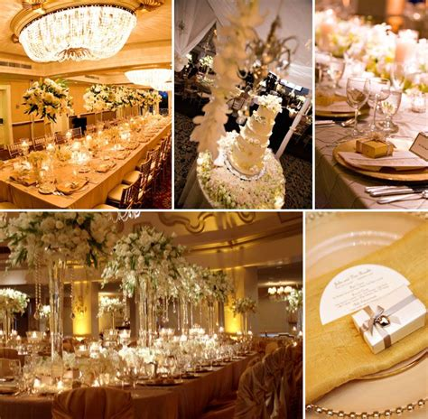 Color Combo: White and Gold Absolutely Fabulous Weddings