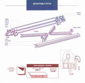 Adjustable Pitch Retractable Awning Diagram