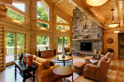 log home interiors heart  carolina log homes