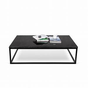 TemaHome Table Basse 120cm QuotPrairiequot Marbre Noir Mtal