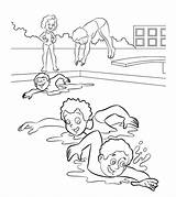 Swimming Coloring Pages Sports Printable Momjunction sketch template