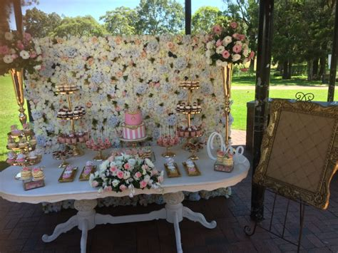 white flower wall prop  party  hire
