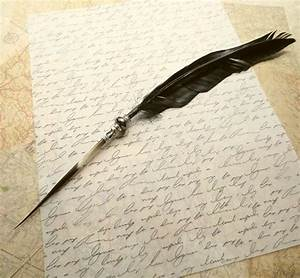 Quill Pen Raven's Wing Ink Dip Porcupine Quill Feather Pen ...
