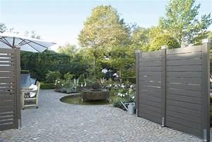 Lasiertes Holz Streichen : sichtschutz holz grau garten ideen sichtschutz ~ Whattoseeinmadrid.com Haus und Dekorationen