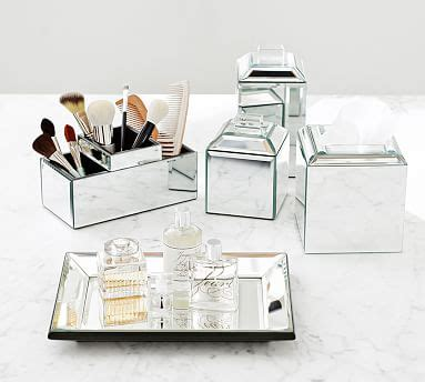 Mirrored Bathroom Accessories Sets by Mirrored Bath Accessories Pottery Barn
