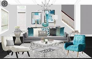 Contemporary, Modern, Glam, Living, Room, By, Havenly