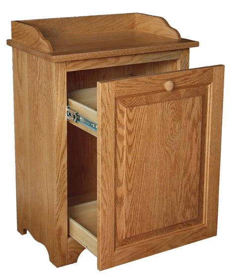 wooden trash cans for kitchen wood slideout kitchen trash can bin
