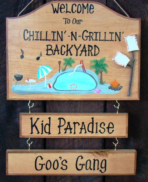 Custom Backyard Signs by 1000 Images About Home Backyard Patio Pool Signs On