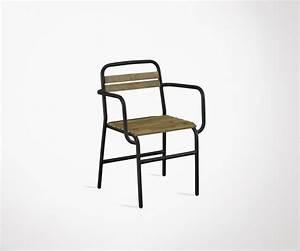 Chaise Bois Exterieur : chaise industrielle accoudoirs ext rieur bois orme m tal noir ~ Teatrodelosmanantiales.com Idées de Décoration