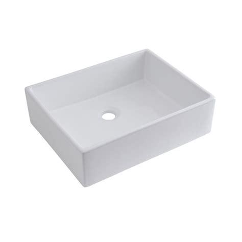 Lavabi D Appoggio In Ceramica Per Il Bagno Lavabo Bagno Da Appoggio Quadrato In Ceramica 490x390mm