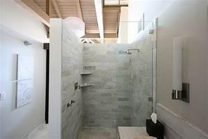 Begehbare Dusche Mit Glasabtrennung Funktional Voll Im