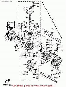 Yamaha Xj650j 1982 Carburetor
