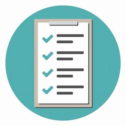 Icon Checklist Order Clipboard Icons Flat Ico