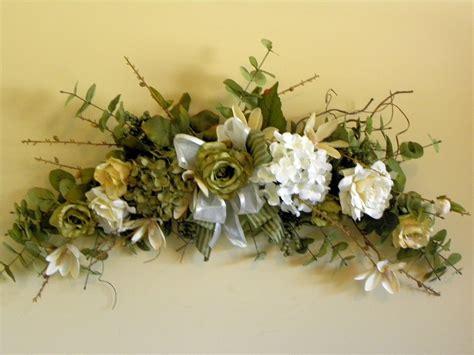 items similar to silk flower swag roses hydrangea green
