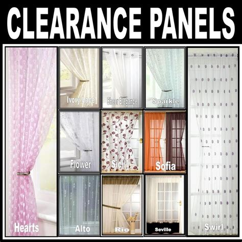 Curtain Sale by Clearance Sale Net Lace Voile Curtain Panels Eyelet