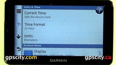 Time Settings In The Garmin Nuvi 2555 And Nuvi 2595