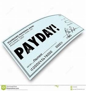 Payday Check Money Payment Earnings Work Compensation ...