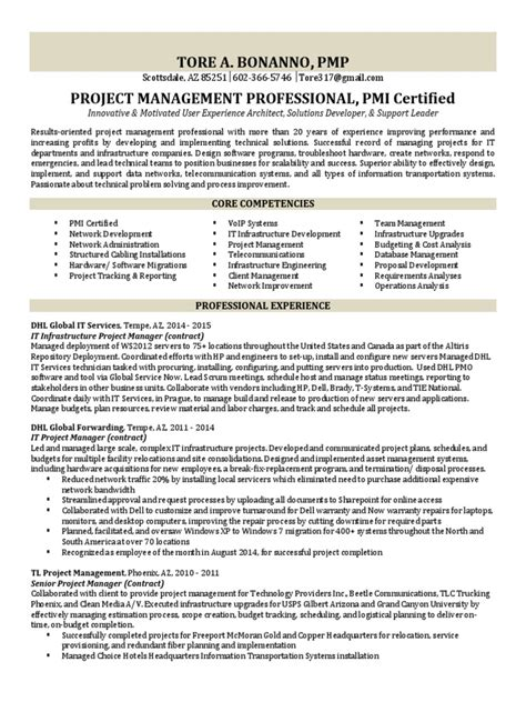 it infrastructure director resume 28 images it
