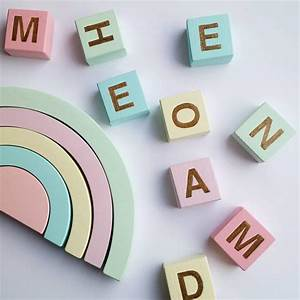 name block with glitter letter With glitter block letters