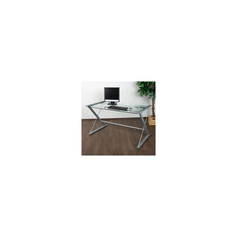 bureau table verre table d 39 ordinateur de bureau en verre