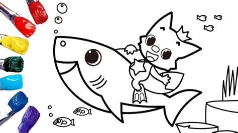 baby shark nursery rhyme coloring pages  kids p