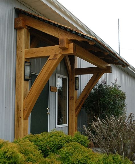 timber frame porch timber frame awning heavy timbered