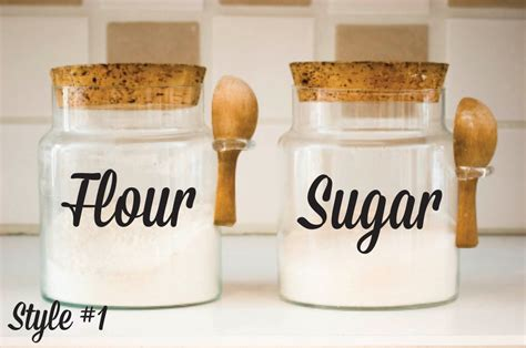 kitchen canisters flour sugar kitchen canister decals flour sugar decals canister vinyl