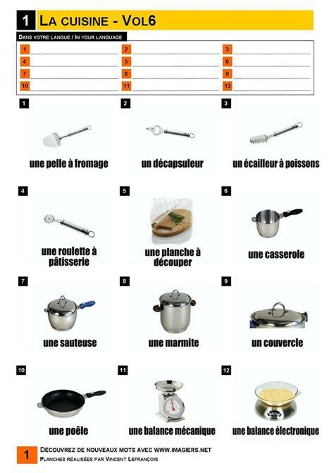 vocabulaire cuisine 49 best vocabulaire imagiers images on