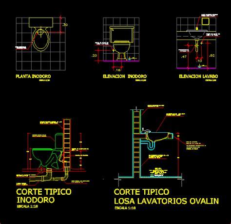 plumbing labatory toilet dwg block  autocad