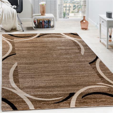 tapis de salon moderne avec bordure marron noir tapis