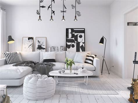 canape desing bright scandinavian decor in 3 small one bedroom apartments