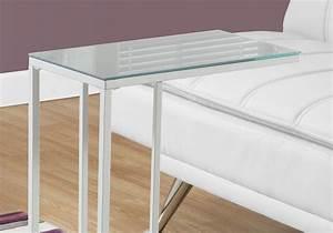 Table D Appoint Miroir : table d 39 appoint metal blanc et dessus miroir table d ~ Teatrodelosmanantiales.com Idées de Décoration