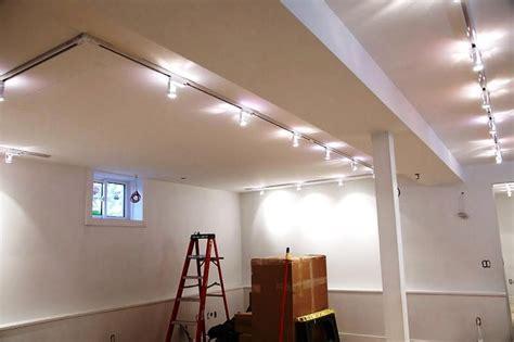 basement ceiling lighting rafter basement ceiling light