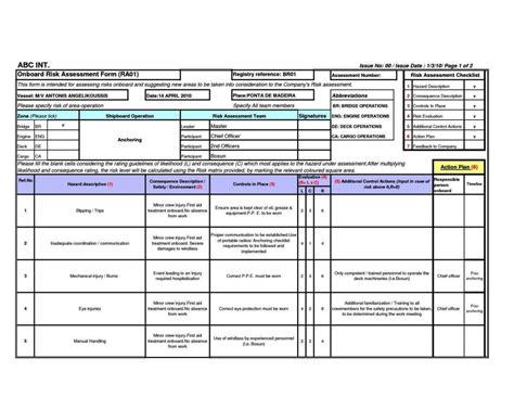 plumbing risk assessment template sampletemplatess