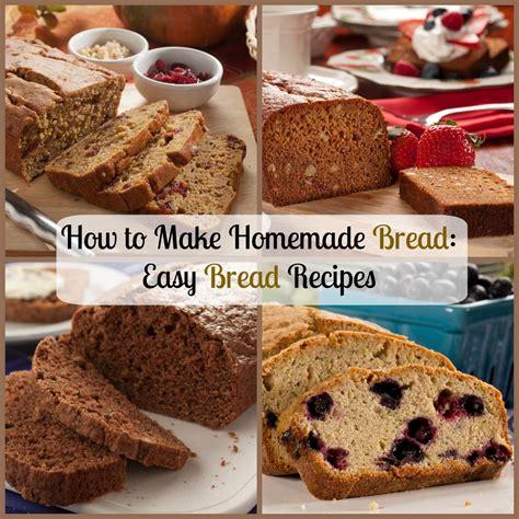 how to make homemade bread easy bread recipes mrfood com