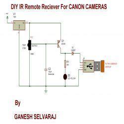Diy Remote Receiver For Canon Cameras Circuit Diagram