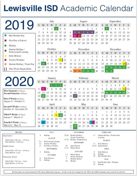 lisd calendar coyote ridge elementary pta