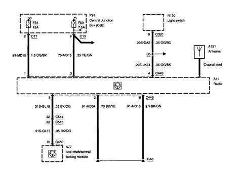 2003 Focu Wiring Schematic by I Need A Radio Wiring Schematic Stating What The Wire